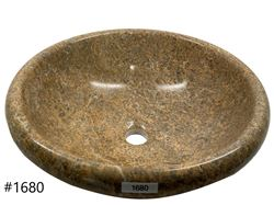 Picture of SoLuna Oceanic Fossil Stone Sink with Rounded Rim