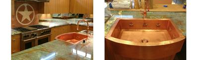 Warren's Texas Star Copper Farmhouse Sink