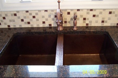 Ed & Lisa's 50/50 Copper Kitchen Sink