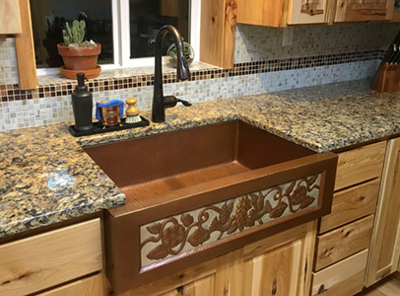 Becky B's Copper Farmhouse Sink