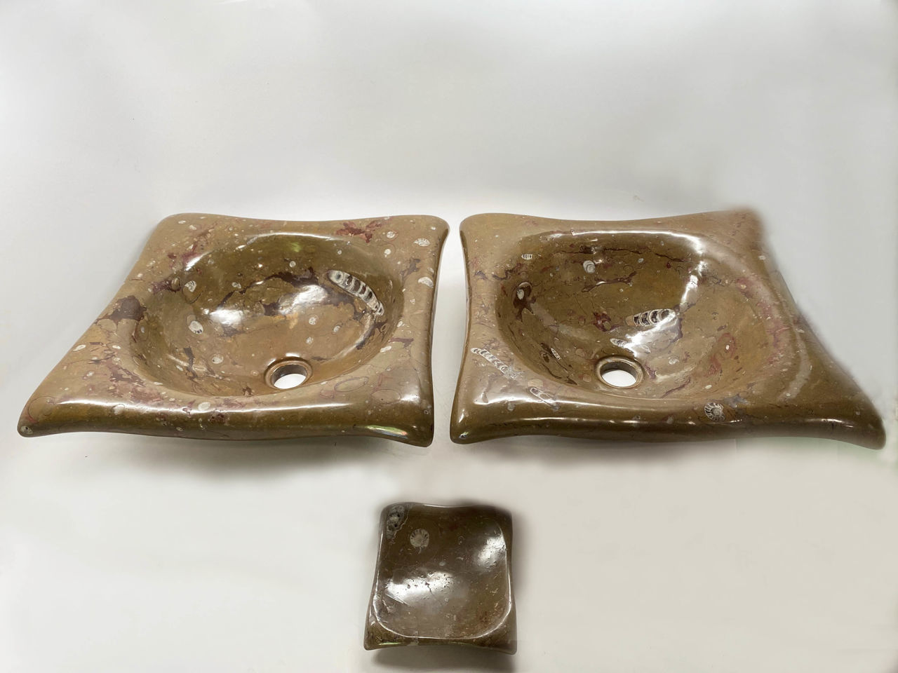 Picture of Tortuga Fossil Vessels in Desert Oasis - Set of 2