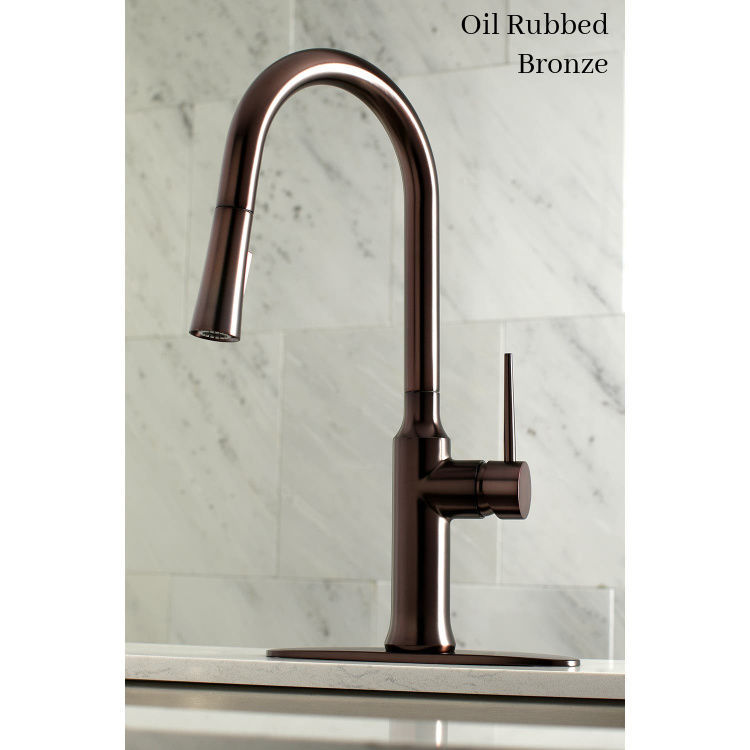 Kingston Brass New York Deck Mount Faucet LS2725NYL - Oil Rubbed Bronze - with escutcheon plate