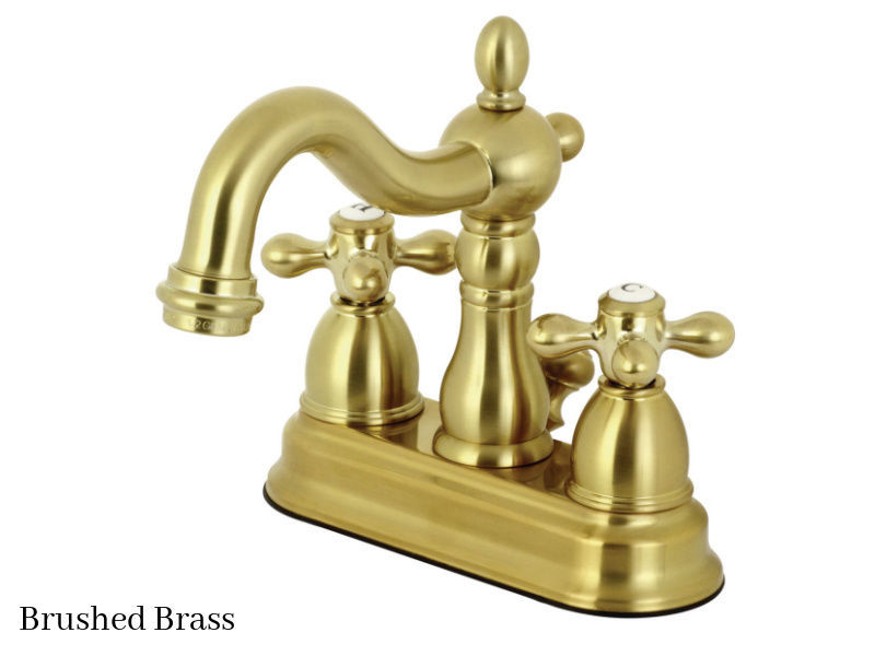 "Kingston Brass 4"" Heritage Centerset Bath Faucet KB1607AX Brushed Brass Finish"
