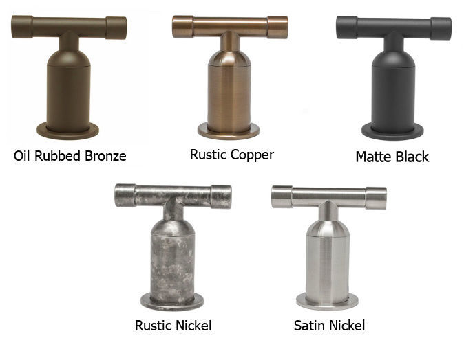Picture of Sonoma Forge | Bar or Prep Faucet | Brut Elbow Spout Single Post | Deck Mount