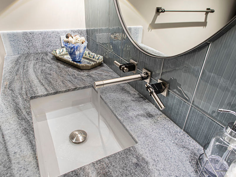Picture of Sonoma Forge | Bathroom Faucet | Strap Widespread | Wall Mount