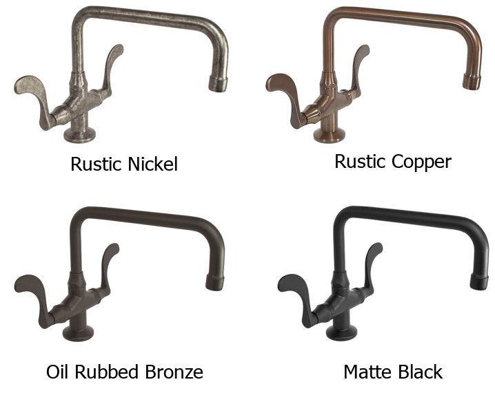 Picture of Sonoma Forge | Kitchen Faucet | Wingnut Large Arched Spout | Deck Mount