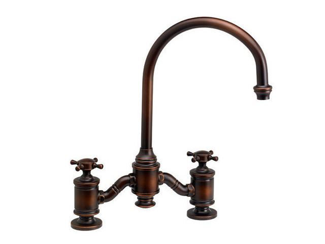 Picture of Waterstone Hampton Bridge Kitchen Faucet - Cross Handles