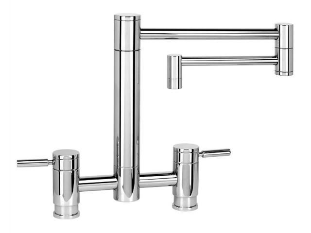 "Picture of Waterstone Hunley Bridge Kitchen Faucet with 18"" Articulated Spout"
