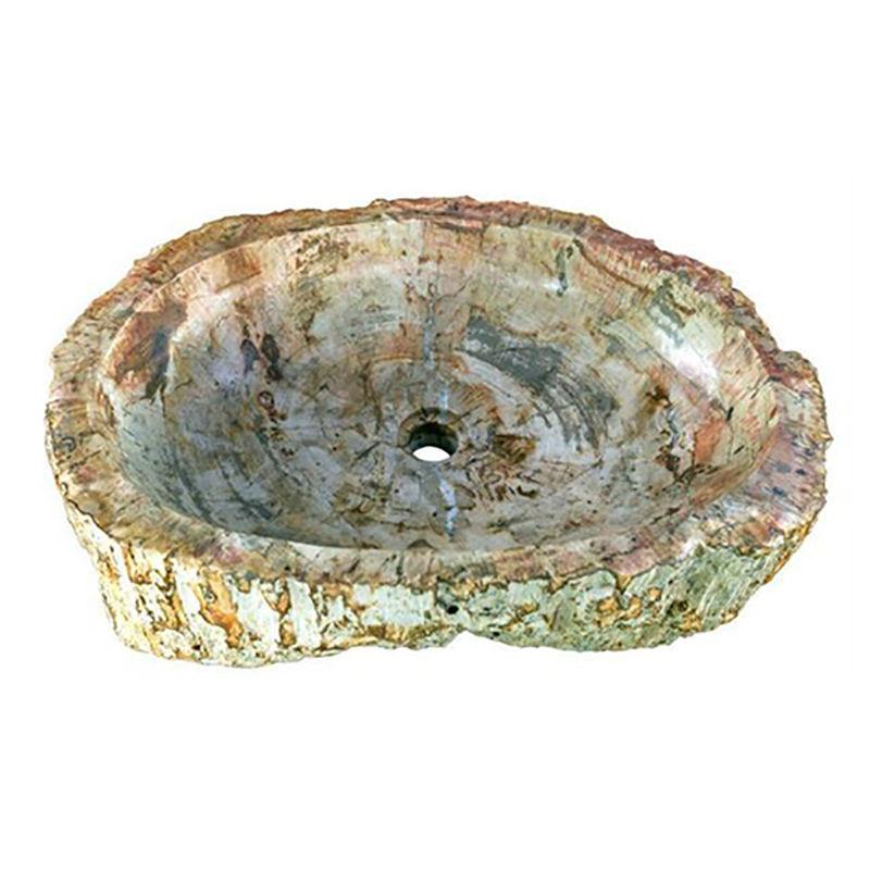 """Large Oval Petrified Wood Sink 22""""-27"""""""
