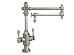 """Waterstone Towson Kitchen Faucet with Double Handles  - 18"""" Articulated Spout"""