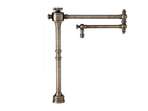 Waterstone Traditional Deck Mounted Pot Filler Faucet - Cross Handle