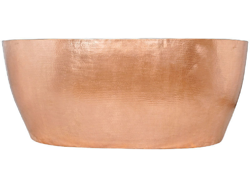 Picture of Double-Wall Oval Copper Bathtub in Polished Copper by SoLuna - SALE