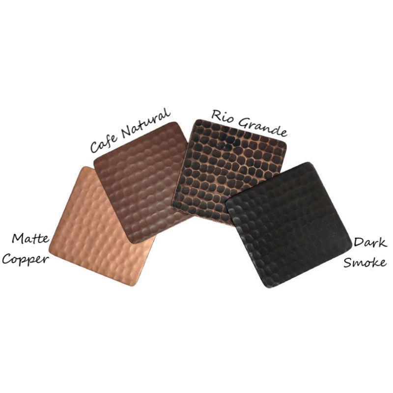 Copper Finish Samples Set of 4