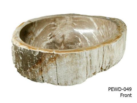 """Medium Brown and Beige Petrified Wood Sink 22""""-25"""""""