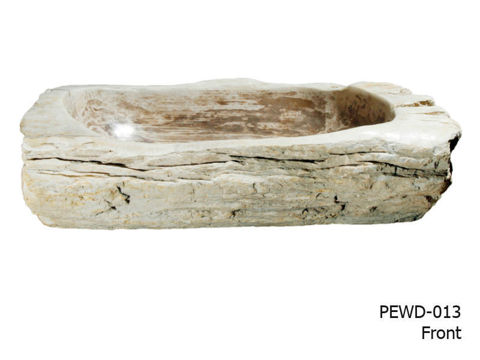 """Large Brown and Beige Petrified Wood Sink 25""""-30"""""""