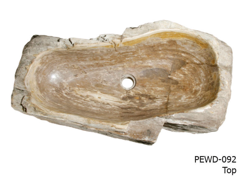 """Picture of Large Brown and Beige Petrified Wood Sink 25""""-30"""""""