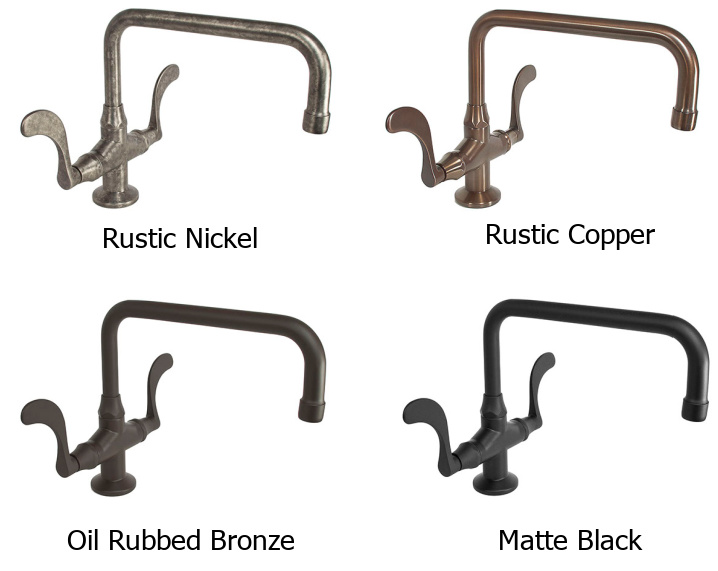 Sonoma Forge Wingnut Faucet Finishes
