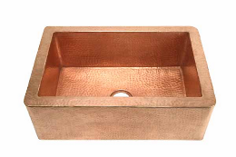 Copper Kitchen Sink With Matte Finish
