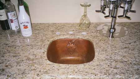 CS2011L20 Copper Sink - Cafe Natural