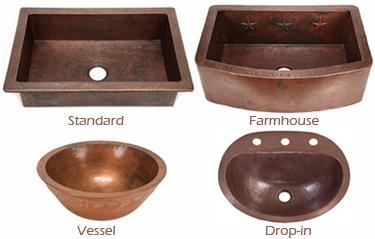 Copper Sink Styles